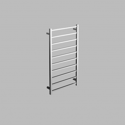Neko Cue Heated Towel Rail 1200x600x110mm Square Polished S/Steel L/H Power Outlet