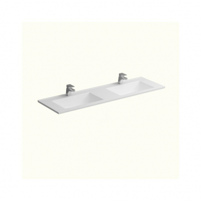 Polymarble Top Only to Suit 1500mm Neko Vanity Dbl Bowl 2x1TH