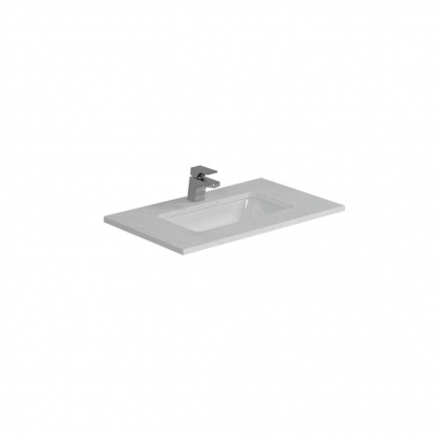Cloudy Day Top+U/Mnt Basin Only To Suit 750mm Neko Vanity (Centre Bowl) 1TH