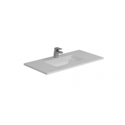 Cloudy Day Top+U/Mnt Basin Only To Suit 900mm Neko Vanity (Centre Bowl) 1TH