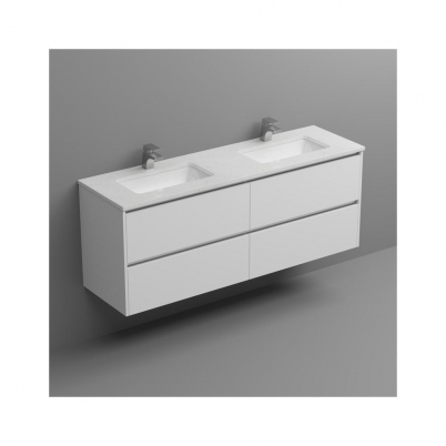 Cloudy Day Top+U/Mnt Basin Only To Suit 1500mm Neko Vanity (Double Bowl) 2x1TH
