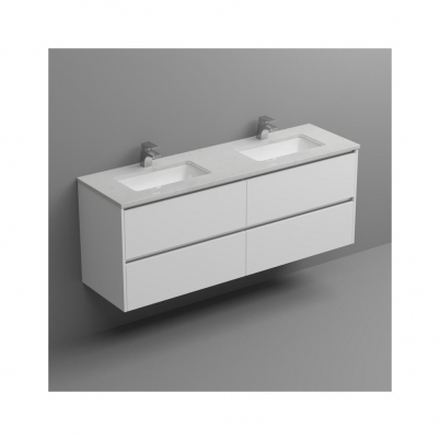 White Cliffs Top+U/Mnt Basin Only To Suit 1500mm Neko Vanity (Double Bowl) 2x1TH