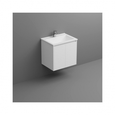 Seirra W/H Vanity 600mm 2-Door Gloss White Cabinet Only