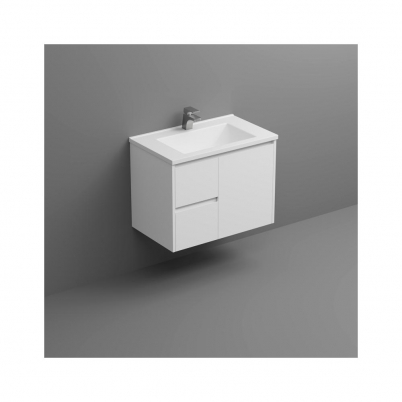 Seirra W/H Vanity 750mm 1-Door 2-L/H Drawers Gloss White Cabinet Only