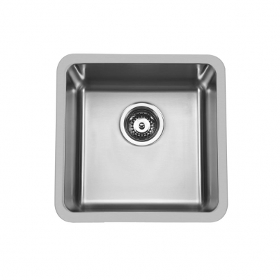 Hue 450 Square Single Bowl Undercounter/Countertop Sink NTH 450x450x210mm S/Steel