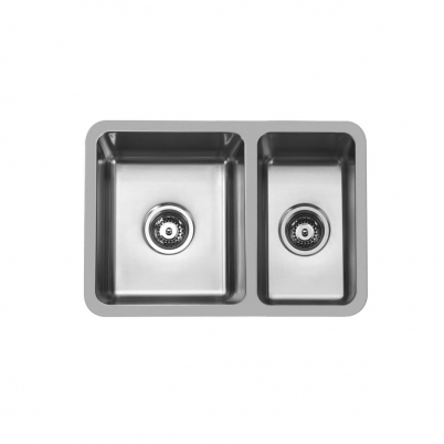 Hue 580 Rectangle 1 & 2/3 Bowl Undercounter/Countertop Sink NTH 580x400x180/165mm S/Steel