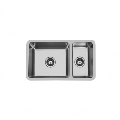 Hue 680 Rectangle 1 & 1/2 Bowl Undercounter/Countertop Sink NTH 680x400x200/160mm S/Steel