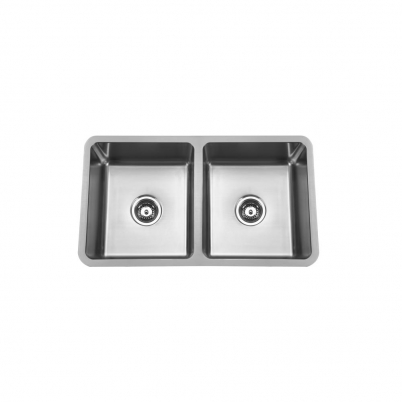 Hue 780 Rectangle Double Bowl Undercounter/Countertop Sink NTH 780x450x200mm S/Steel
