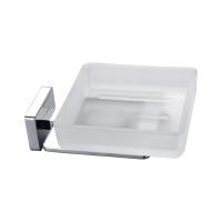 Neko Cue Soap Holder (Glass) Chrome (With Hole)