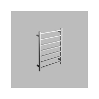 Neko Cue Heated Towel Rail 800x600x110mm Square Polished S/Steel L/H Power Outlet