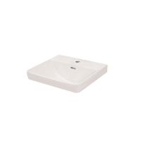 Sync Semi Inset Basin 460 x 415mm Ceramic White