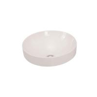 Solace Semi Inset Basin Round 400mm Ceramic White