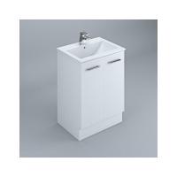 Neko Locus Vanity Cabinet+Kick Only 600mm 2-Door White Gloss
