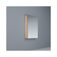 Crave Mirror Door Shaving Cabinet 450 x 700mm with Soft Close Hinges Elegant Oak