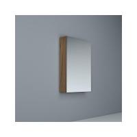 Crave Mirror Door Shaving Cabinet 450 x 700mm with Soft Close Hinges Dark Elm