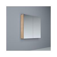 Crave Mirror Door Shaving Cabinet 750 x 700mm with Soft Close Hinges Elegant Oak