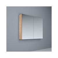 Crave Mirror Door Shaving Cabinet 900 x 700mm with Soft Close Hinges Elegant Oak